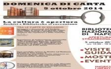 Domenica  5 ottobre 2014 apertura straordinaria della Biblioteca Nazionale di Napoli